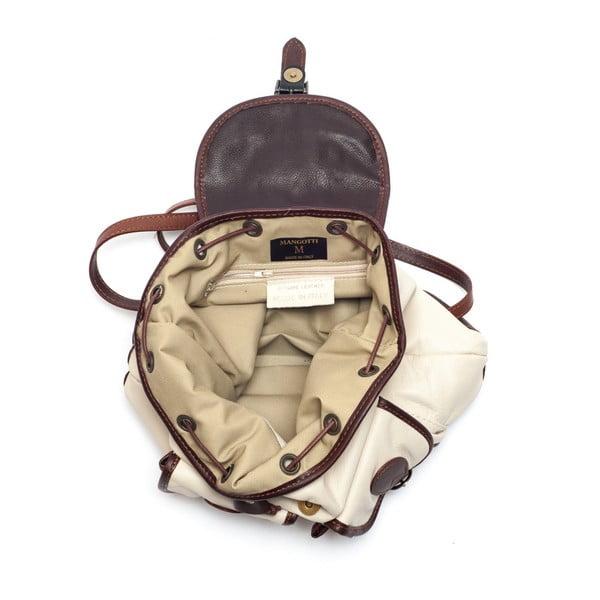 Kožený batôžtek Mangotti 2038 Beige