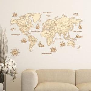 Nástenná samolepka Ambiance Vintage World Map