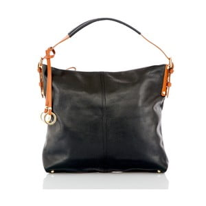 Čierna kožená kabelka Glorious Black Savy