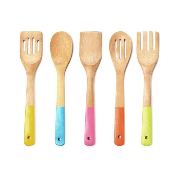 Sada drevených kuchynských pomocníkov Premier Housewares Utensil Set, 5 ks