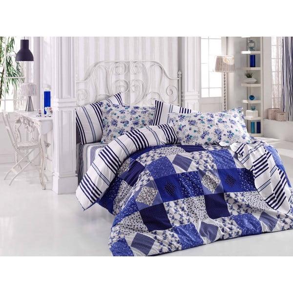 Obliečky s prestieradlom Clara Dark Blue, 200 x 220 cm