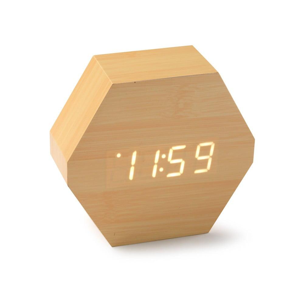 LED hodiny z bambusového dreva Versa Table Clock