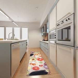 Vysokoodolný kuchynský koberec Food, 60x150 cm