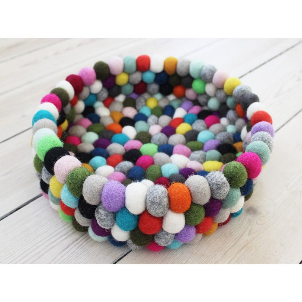 Guľôčkový vlnený úložný košík Wooldot Ball Basket Multi Pang, ⌀ 28 cm