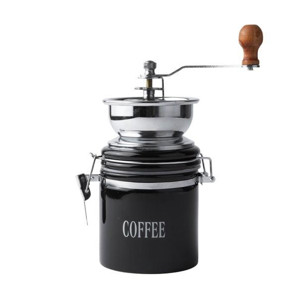 Čierny porcelánovýmlynček na kávu Galzone Coffee Mill