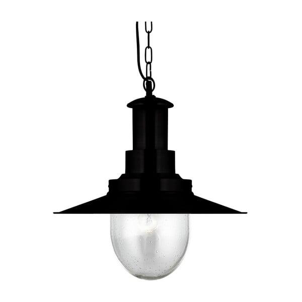 Stropné svietidlo Searchlight Fisherman Shiny, čierna