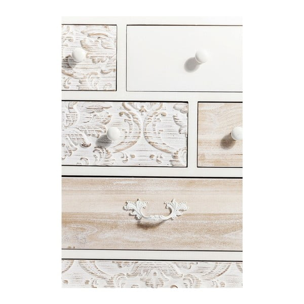 Biela komoda so 7 zásuvkami Kare Design Sweet Home