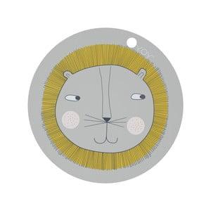 Detské silikónové prestieranie OYOY Lion, ⌀ 39 cm
