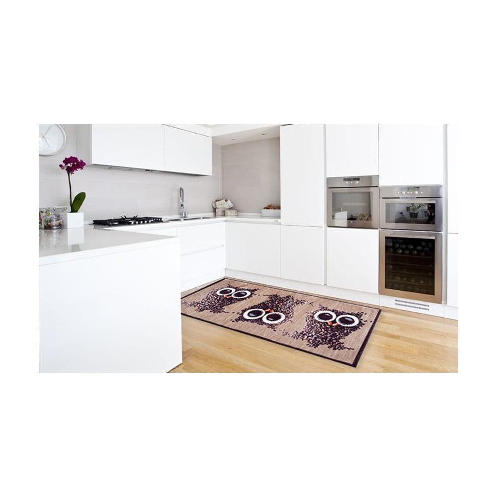 Vysokoodolný kuchynský koberec Floorita Gufocaffe, 60 × 220 cm
