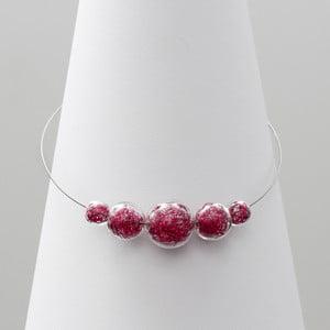 Ružový sklenený náhrdelník ko–ra–le Wired 6