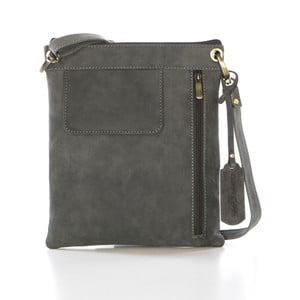 Sivá kožená kabelka Gianni Conti Jacquetta