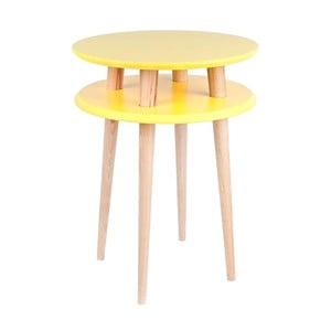 Žltý konferenčný stolík Ragaba UFO,Ø45cm