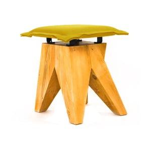 Drevená stolička Low, olivová