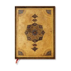 Zápisník s mäkkou väzbou Paperblanks Safavid, 18 x 23 cm
