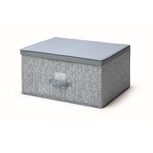 Modrý úložný box s vekom Cosatto Tweed, šírka 60 cm
