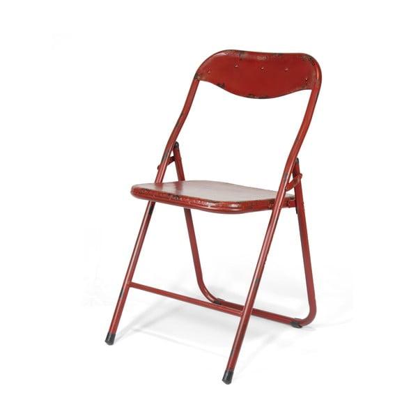 Skladacia stolička Harrison, červená