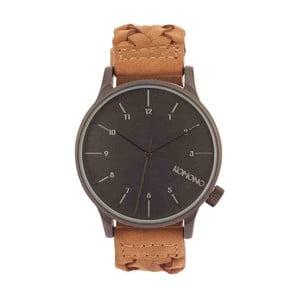 Pánske hnedé hodinky s koženým remienkom Komono Wowen Chestnut 0d72ed345de