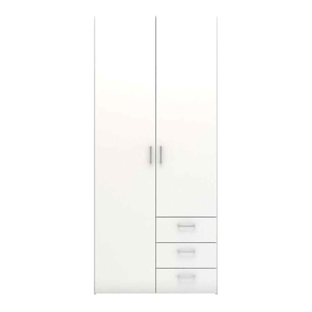 Biela šatníková skriňa Evegreen Houso Home, výška 175,4 cm