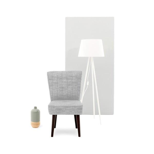 Sivá čalúnená stolička Vivonita Leila
