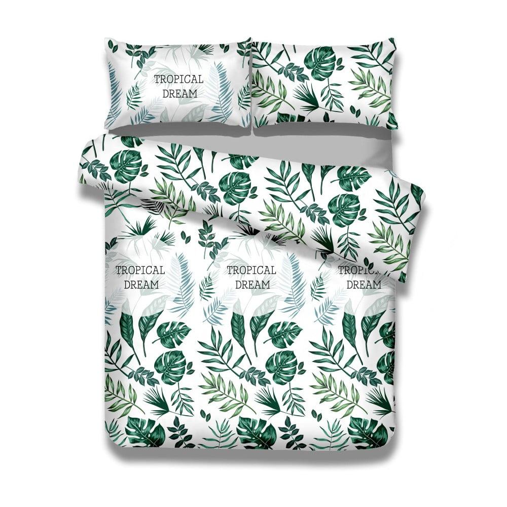 Sada bavlnenej obliečky na perinu a obliečky na vankúš AmeliaHome Averi Botanique, 135 × 200 cm + 50 × 75 cm