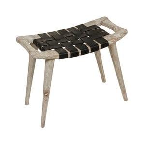 Stolička z dreva mindi s výpletom z hovädzej kože Santiago Pons Clear