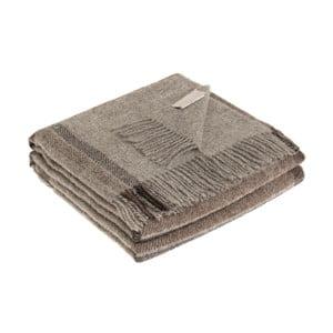 Sivá deka z panenskej vlny Lanerossi Lewis, 130 x 170 cm
