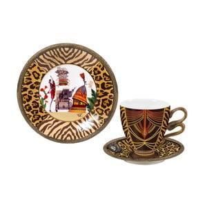 Porcelánová sada šálky, tanierika a taniera Africa