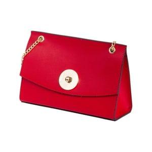 Červená kabelka z pravej kože Andrea Cardone Elda