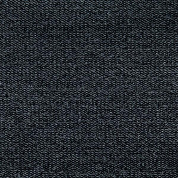 Tmavosivá posteľ Allon 140x200cm, čierne nohy