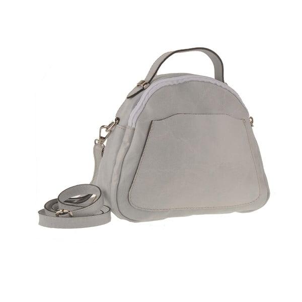 Kožená kabelka Men, sivá