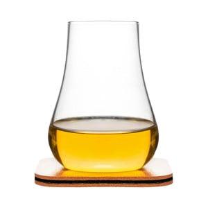 Pohár s tanierikom/stojanom na whiskey Sagaform Whiskey Tasting Set