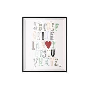 Plagát ABC, 40x50 cm