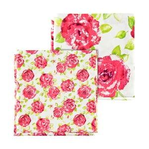 Sada 4 ružových obrúskov Ragged Rose Natalie