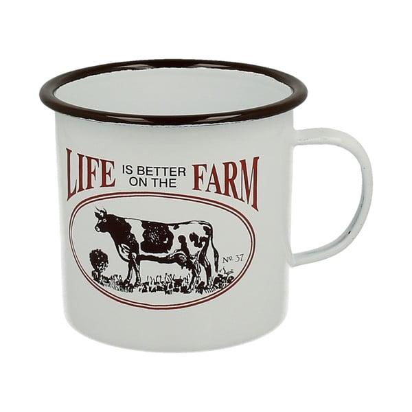 Smaltovaný hrnček Duo Gift Cow Farm