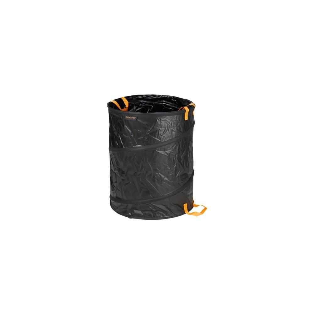 Čierny skladací záhradný kôš Fiskars Solid