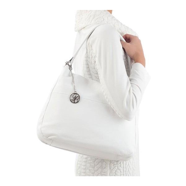 Kožená kabelka Alessandro, biela