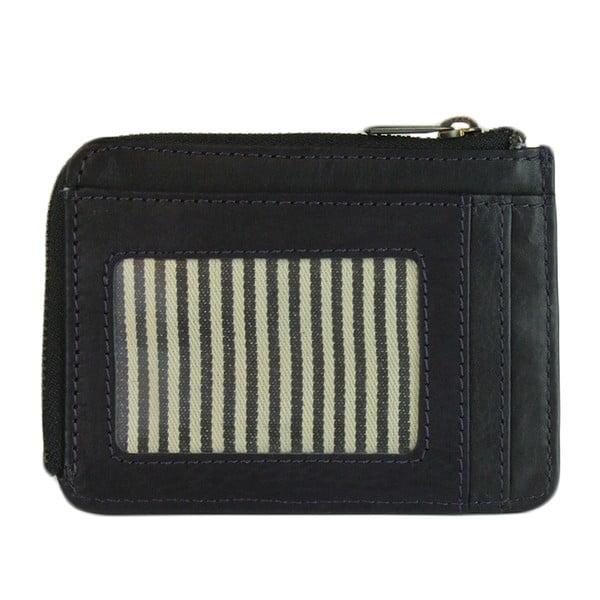 Tmavomodrá kožená peňaženka O My Bag Zip Coin