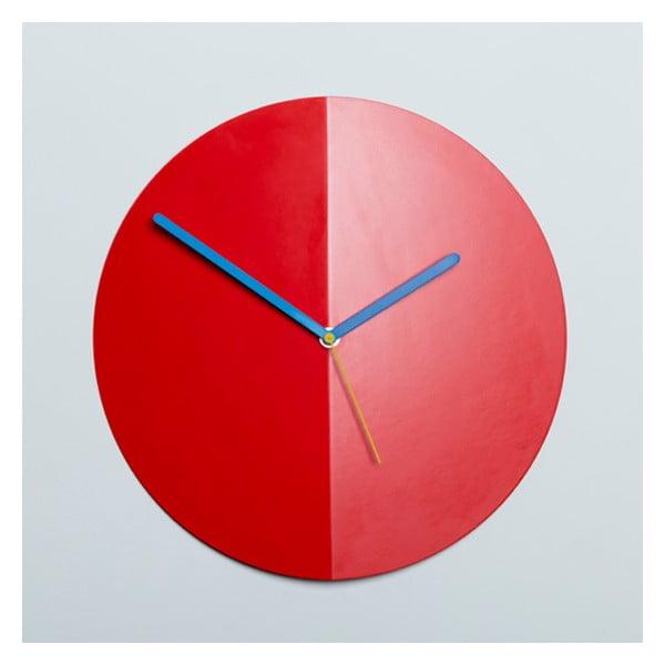 Nástenné hodiny Mountain Fold, červené