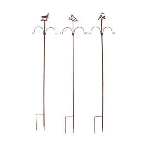 Sada 3 zapichovadiel pre zavesenie vtáčieho zobu Esschert Design, výška 149 cm