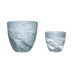 Sada 2 porcelánových svietnikov Hübsch Aeqor