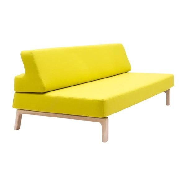 Žltá rozkladacia sedačka Softline Lazy