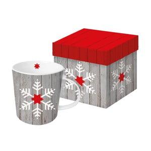 Porcelánový hrnček s vianočným motívom v darčekovom balení PPD Snowflake On Wood, 350 ml