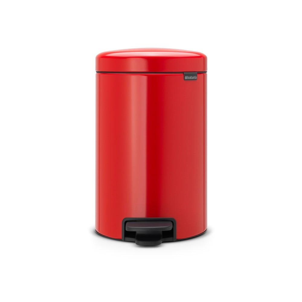 Červený pedálový odpadkový kôš Brabantia Newicon, 3 l