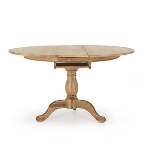 Rozkladací okrúhly jedálenský stôl z dubového dreva VIDA Living Carmen, priemer 1,4 m