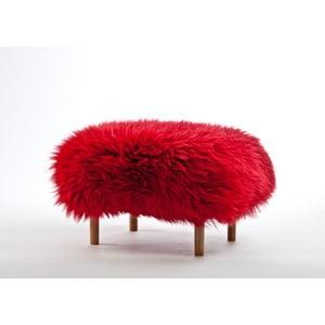 Stolička z ovčej kože Bethan Dragon Red