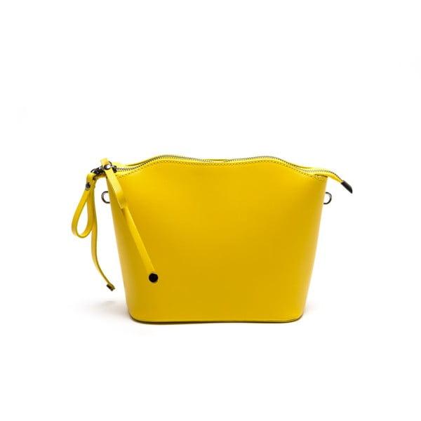 Kožená kabelka Gloria, žltá