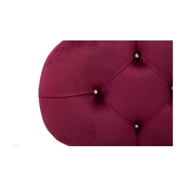 Vínovočervená pohovka s úložným priestorom Mauro Ferretti Curva