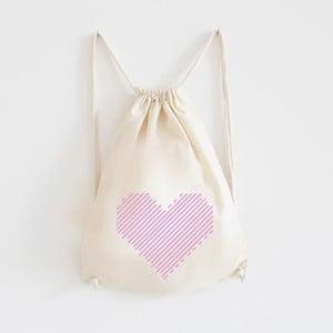 Plátený batoh Gestreiftes Hert Rosa