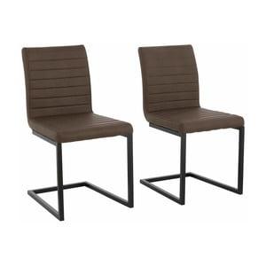 Sada 2 tmavohnedých jedálenských  stoličiek Støraa Sandra