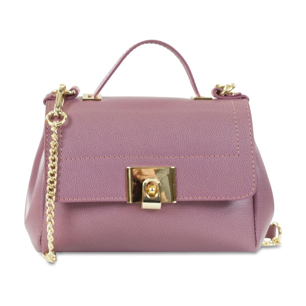 19db815cfe Ružová kožená kabelka Infinitif Clelia